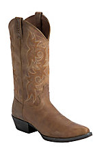 Justin® Stampede Collection™ Men's Tan Puma Snip Toe Western Boots