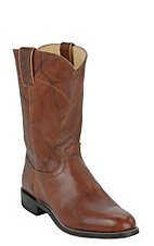 Justin® Men's Chestnut Marbled Deerlite Leather Roper Boots