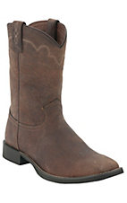 Justin® Stampede Collection™ Men's Rugged Tan Square Toe Roper Boots