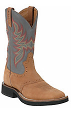 Justin® Tekno Crepe™ Men's Rust & Sky Dusty Square Toe Crepe Boots