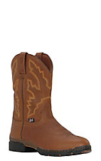 Justin 3.1 Mens George Strait Smooth Coffee Slip-On Waterproof Performance Boot