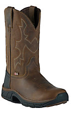 Justin® Stampede™ Rancher Men's Distressed Tan Jaguar Performance Round Toe Work Boot