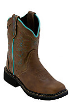 Justin® Gypsy™ Kid's Tan Jaguar Saddle Vamp Square Toe Western Boots