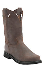 Justin Original Work Boots Men's Dark Mountain Brown J-Flex Round Toe Work Boots