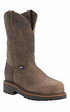 Justin Original Workboots Men's Tan Crazy Horse JMAX Composite Toe Pull On Boot