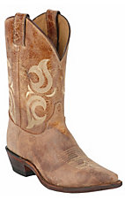 Justin® Bent Rail™ Men's Puma Tan Brown Snip Toe Western Boot