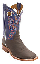 Justin® Bent Rail™ Men's Chocolate w/ Purple Top Square Toe Western Boots