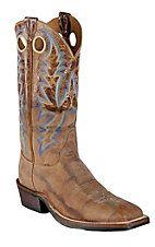 Justin Bent Rail Men's Dirty Tan Puma Square Toe Western Boots