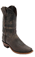 Justin® Bent Rail™ Men's Chocolate Road Map Chip Toe Western Boots