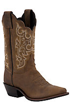 Justin Ladies Brown Chester Snip Toe Classic Western Boots