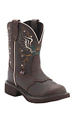 Justin Ladies Gypsy Collection Copper Kettle Brown Round Toe Western Fashion Boots