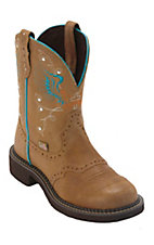 Justin Gypsy Women's Toast Tan w/ Winged Cross Round Toe Western Boots