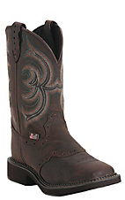 Justin� Gypsy Collection? Ladies Aged Bark w/ Perfed Saddle Vamp Square Toe Boots