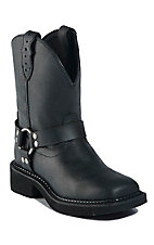 Justin® Gypsy™ Ladies Black Crazy Horse Harness Square Toe Western Boots