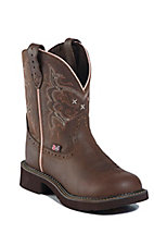 Justin� Gypsy? Ladies Cafe Brown Apache Round Toe Western Boots