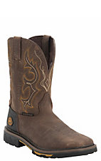 Justin Hybred Men's Rustic Barnwood w/ Composite Square Toe Waterproof Western Work Boot