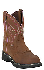 Justin Ladies Gypsy Aged Bark w/ Saddle Vamp Steel Toe Work Boot