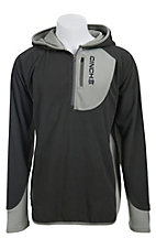 Cinch® Men's Grey Waffle Fleece Hooded Pullover K1032000