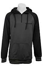 Cinch Men's Grey with Black 1/4 Zip Feece Tech Hooded Pullover K1189000