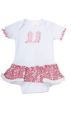 Baby Korral® Girls White and Pink Sequin Onesie