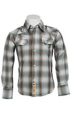 Larry Mahan Boys L/S Western Snap Shirt KLS131103