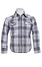 Larry Mahan Boys L/S Western Snap Shirt KLS131106