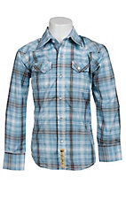 Larry Mahan Boys L/S Western Snap Shirt KLS131109