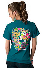 Girlie Girl® Women's Blue All Up In My Kool Aid Short Sleeve Tee