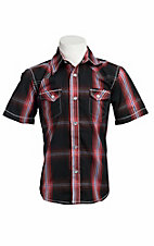 Larry Mahan Boys S/S Western Snap Shirt KSS1321002
