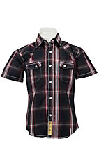 Larry Mahan Boys S/S Western Snap Shirt KSS1321005