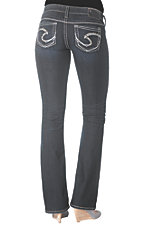 Silver Jeans® Women's Tuesday Stonewash Low Rise Bootcut Jeans