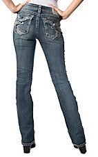 Silver Jeans® Women's Medium Wash Suki Flap Pocket Mid Rise Relaxed Curvy Fit 17 Bootcut Jeans