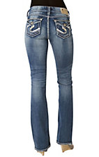 Silver Jeans® Ladies Suki Surplus Mid Rise Curvy Fit Boot Cut Jean - 34