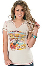 Panhandle Slim Women's Cream Vintage Cross Roads Short Sleeve Tee