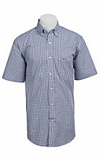 Larro S/S Mens Plaid Shirt LA1320301