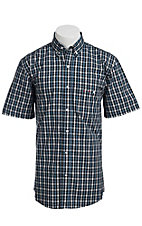 Larro S/S Mens Plaid Shirt LA1320304
