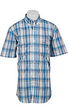 Larro™ S/S Mens Plaid Shirt LA1320305