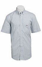 Larro S/S Mens Plaid Shirt LA1320308
