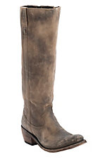 Liberty Black Ladies America Distressed Tan Round Toe Tall Western Fashion Boots