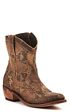 Liberty Black Women's Toccato Chocolate Distressed Studded Round Toe Western Fashion Boots