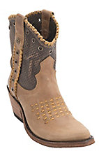Liberty Black Women's America Tan Vintage Canela Snip Toe Western Fashion Boots