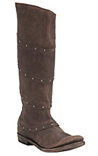 Liberty Black Women's Vintage Brown with Stud Wrap Tall Top Round Toe Western Fashion Boots
