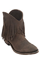 Liberty Black Women's Toccato Chocolate Distressed Fringe Round Toe Western Fashion Boots