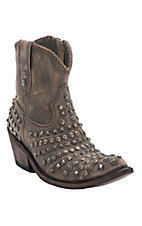 Liberty Black Women's Vintage Brown Canela Studded Snip Toe Western Fashion Boots