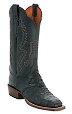 Lucchese® Cowgirl™ Ladies Black Hornback Caiman Exotic Square Toe Boots