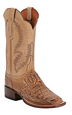 Lucchese® Cowgirl™ Ladies Tan Burn Hornback Caimen Exotic Square Toe Boot