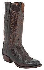 Lucchese 1883 Men's Barrel Brown Caiman Crocodile Belly Exotic Western Boots