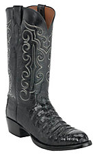 Lucchese 1883 Men's Black Caiman Crocodile Belly Exotic Western Boots