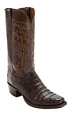 Lucchese® 1883™ Men's Sienna Ultra Belly Caiman 7-Toe Narrow Punchy Toe Exotic Western Boots