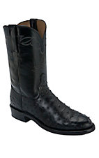 Lucchese 1883 Men's Black Full Quill Ostrich Exotic Roper Boots